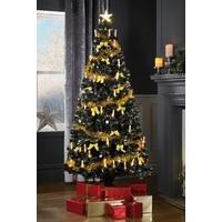 Fibre Optic Candle Tree - Gold