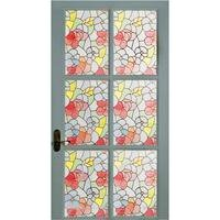 Self Adhesive Window Vinyl Rolls - Floral Stained Glass
