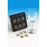 Wine Charms Set 1 (Black Box Set Of 6)