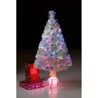 'White Classic Deluxe Fibre Optic Christmas Tree