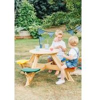 Plum Circular Picnic Table with Coloured Seats