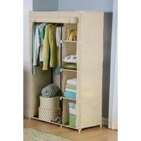 Fabric Wardrobe With Shelving