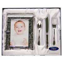Christening Day - Photo Frame with Cutlery Set