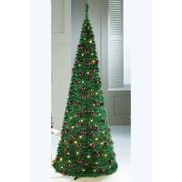 Green Lit and Decorated Pop-Up Christmas Tree