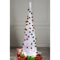 White Lit and Decorated Pop-Up Christmas Tree
