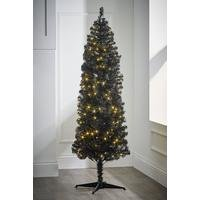 Black Deluxe Pre-Lit Christmas Tree with Warm White LEDs