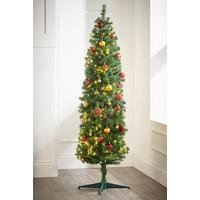 Green Deluxe Pre-Lit Trees with Warm White LEDs