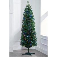 Green Deluxe Pre-Lit Tree with Multi LEDs