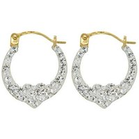 9ct Gold Cristalique Creole Earrings
