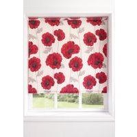 Watercolour Poppy Roller Blind