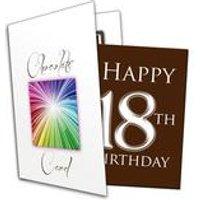 Happy 18th Birthday Chocolate Card