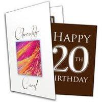 Happy 20th Birthday Chocolate Card