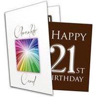 Happy 21st Birthday Chocolate Card