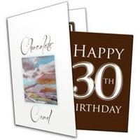 Happy 30th Birthday Chocolate Card