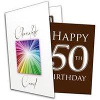 Happy 50th Birthday Chocolate Card