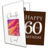 Happy 60th Birthday Chocolate Card