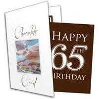 Happy 65th Birthday Chocolate Card