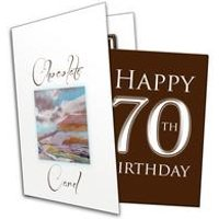 Happy 70th Birthday Chocolate Card