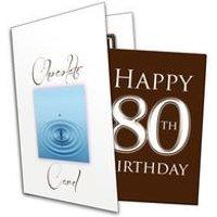 Happy 80th Birthday Chocolate Card