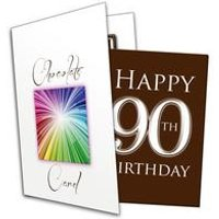 Happy 90th Birthday Chocolate Card