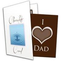 I Heart Dad Chocolate Greetings Card