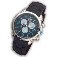 crosshatch blue chrono watch