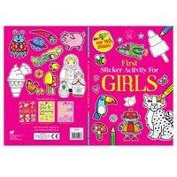 First Sticker Activity Book For Girls