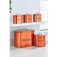 5-Piece Copper Coloured Oval Storage Set