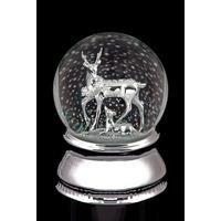 Musical Water Snow Globe With Deer and Fawn