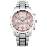 lipsy stone set silver tone watch