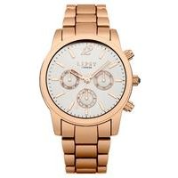 lipsy rose gold metal watch