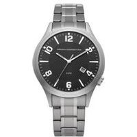 french connection gents dial silver bracelet watch