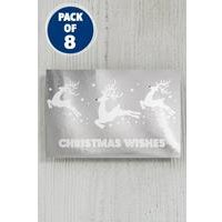 8 Silver Reindeer Foil Gift Tags