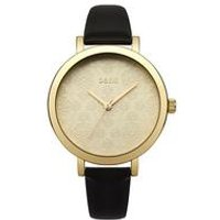 Oasis Ladies Gold Etched Pattern Dial Watch