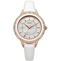 oasis ladies mother of pearl dial pu strap watch