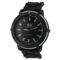 gents crosshatch silicone strap watch