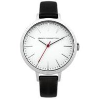 french connection ladies leather watch with interchangeable strap