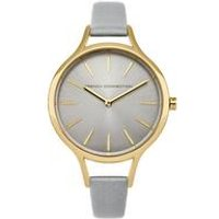 french connection ladies leather strap watch