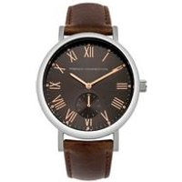 french connection gents leather strap watch