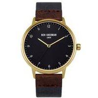 ben sherman portobello heritage embossed detail strap watch