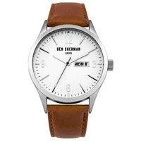 ben sherman tan leather strap watch
