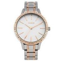 oasis ladies two tone bracelet watch