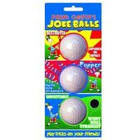 Longridge 3 Pack Of Prank Golfers Joke Balls