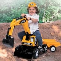 JCB Excavator Ride-On with Trailer and Helmet