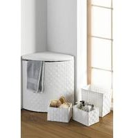 4-Piece Rattan-Effect Laundry Hamper Set