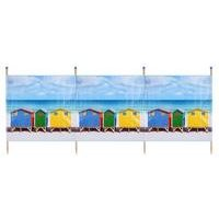 Beach Hut 4 Pole Standard Printed Windbreak