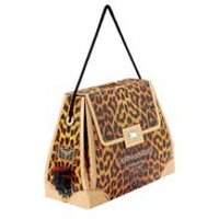 Leopard Print Wine Handbag