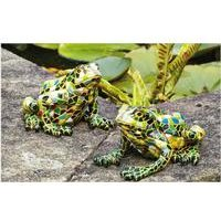 Set Of 2 Mosaic Frogs