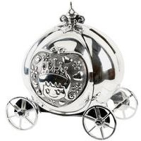 Silver Plated Fairytale Carriage Money Box
