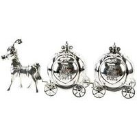 Silver Plated Horse and Carriage Tooth and Curl Set